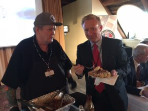 Stavanger Event: BBQ King Craig Whitson serving Harald Minge
