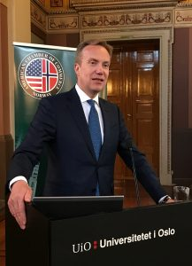Foreign Minister, Børge Brende at Annual General Meeting and Transatlantic Assembly
