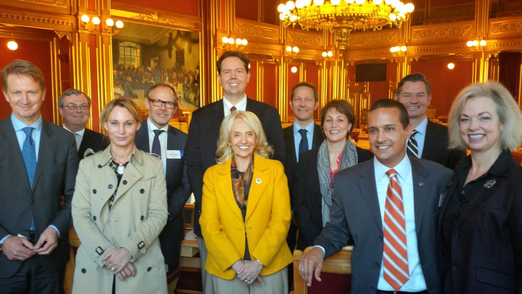 Former Arizona Governor Jan Brewer visiting Oslo in 2014.