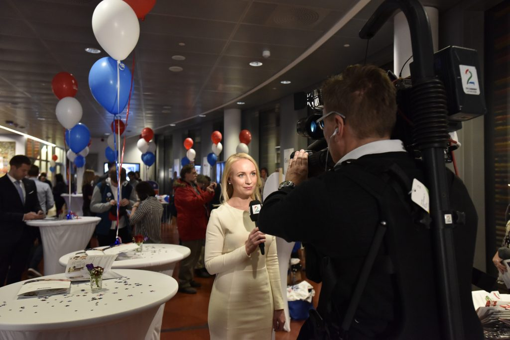 TV 2 coverage live from the 2016 Presidential Election event. Photo: Nancy Bundt