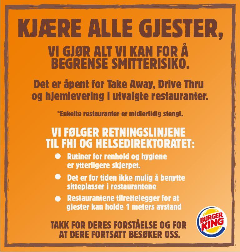 Burger King 3 Amcham Norway